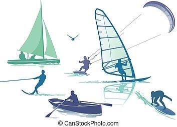 Wasser fun.eps - Set water sports