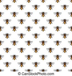 Bee pattern - Seamless pattern of the bee insects