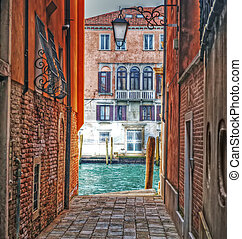 detail of a backstreet in Venice, Italy