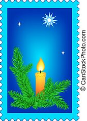 Christmas stamp - Illustration of the Christmas stamp
