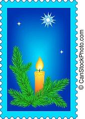 Christmas stamp - Illustration of the Christmas stamp