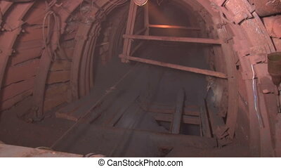 tunnel and ore - Underground mine iron ore and coal