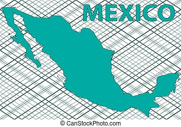 Mexico map - Abstract silhouette map of the Mexico. All...