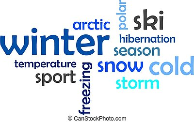 word cloud - winter - A word cloud of winter related items