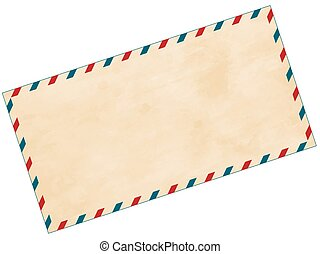Airmail envelope - Illustration of the abstract aged airmail...
