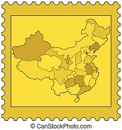 China on stamp