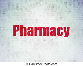 Healthcare concept: Pharmacy on Digital Paper background