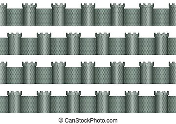 Tower pattern - Seamless pattern of the towers and walls