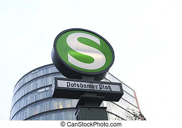 Potsdamer platz station - Underground station of the S-bahn...