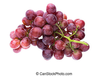 red grape isolated