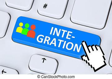 Integration refugees immigration multicultural diversity on internet