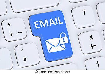 Sending encrypted E-Mail email protection secure mail on...