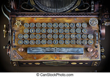 typewriter keyboard - Steampunk style future Typewriter....