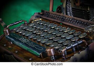 typewriter keyboard - Steampunk style future Typewriter...