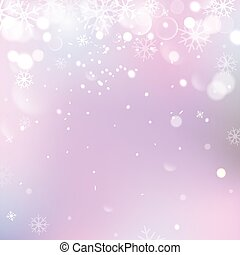 Abstract Christmas background with snowflakes and place for text. Vector Illustration