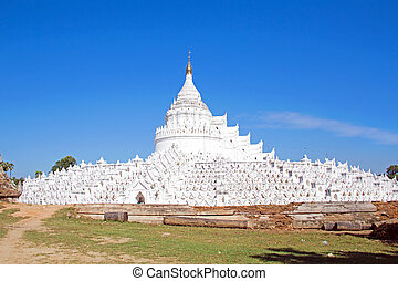 The white pagoda of Hsinbyume Mya Thein Dan pagoda paya...