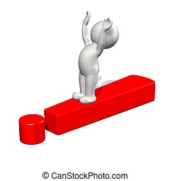 red exclamation mark and 3d people