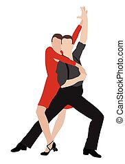 tango dancers illustration