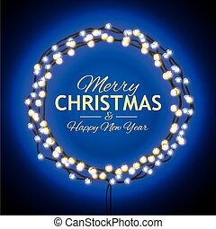 Congratulation to Christmas with blue lights - Christmas...