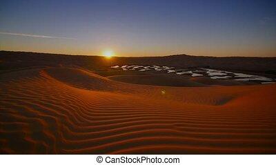 Typical landscape of the Sahara - Sahara Desert landscape,...