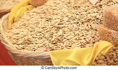 Pumpkin seeds on the marketplace