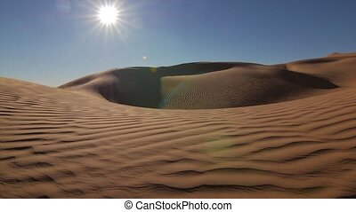 Typical landscape of the Sahara Desert early in the morning