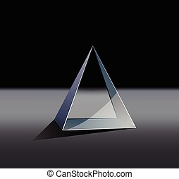 glass pyramid - This is an illustration of a glass pyramid