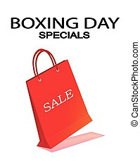 Red Paper Shopping Bag for Boxing Day Sale - Boxing Day...