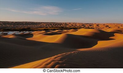 Typical landscape of the Sahara - Sahara desert landscape....