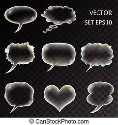 transparent comics set