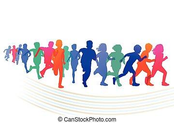 Kinder Wettlauf.eps - Children race