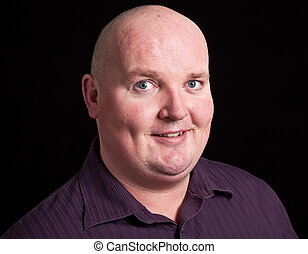close up picture portrait of an overweight male - photo...