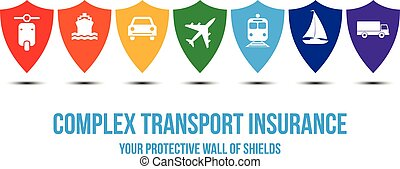 Complex transport insurance design concept