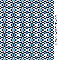 Blue abstract seamless pattern with interweave lines Vector...