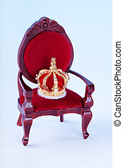 Crown and throne - Miniature crown and throne for a...