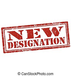 New Designation-stamp - Grunge rubber stamp with text New...
