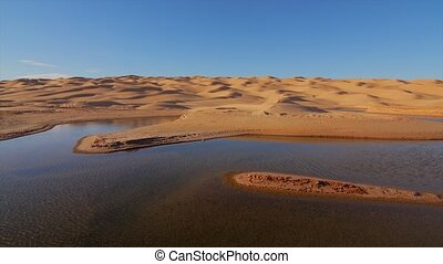 Typical landscape of the Sahara - Sahara desert landscape...