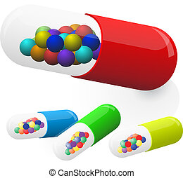 Medicine capsules. Vector illustration. Eps10