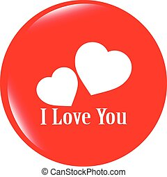 vector web 2.0 button with heart sign. Round shapes icon