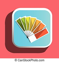 Colorful pantone icon graphic designer, vector illustration...