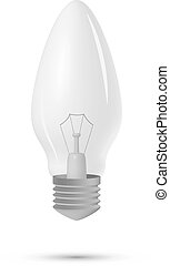 lightbulb on a white background, vector illustration