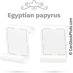 Ancient papyrus, white color, vector illustration