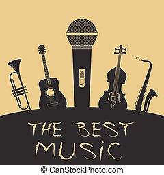 Advertising card for music festival