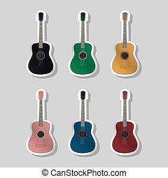 Acoustic guitars different color