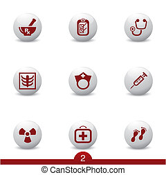 Medical icons..no.1 - Set of medical icons from a series in...