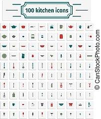 Set of kitchen untesils