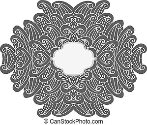 Abstract frame - Abstract floral frame Hand drawn vector...