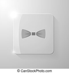 Black tie on a glass square