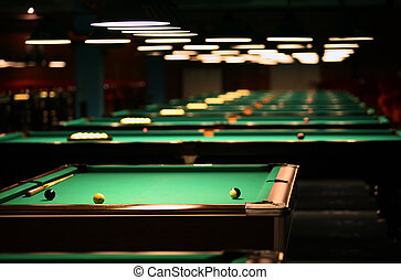 Billiard room - Billiard tables in a fashionable night club