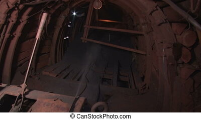 Dust suppression systems in the mine - Underground mine iron...